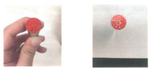 An example of an over-inked hanko, and the blurred impression that results from too much ink coverage.
